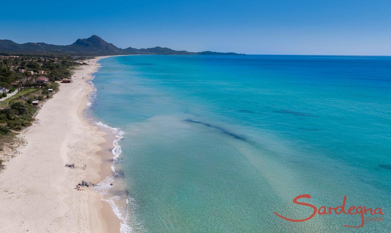 Sandy beach Costa Rei