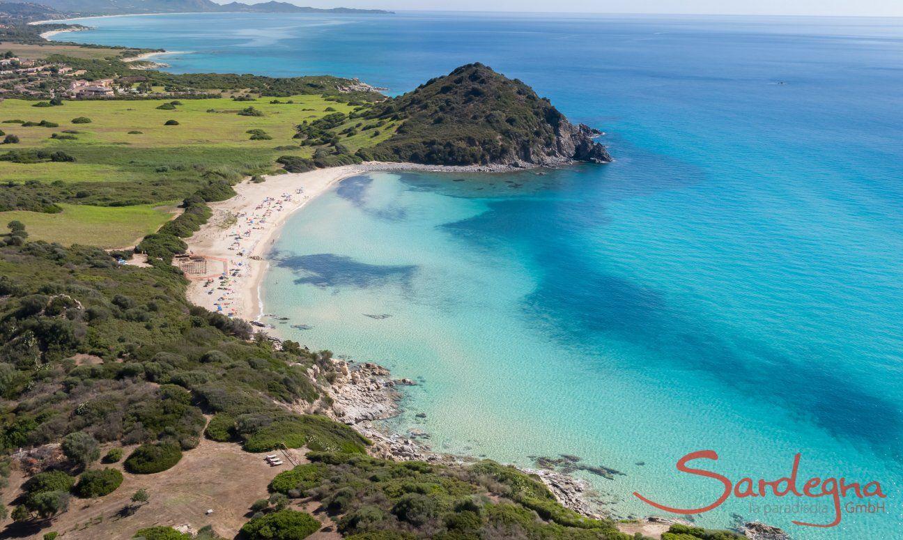 Panoramaview sandy beach