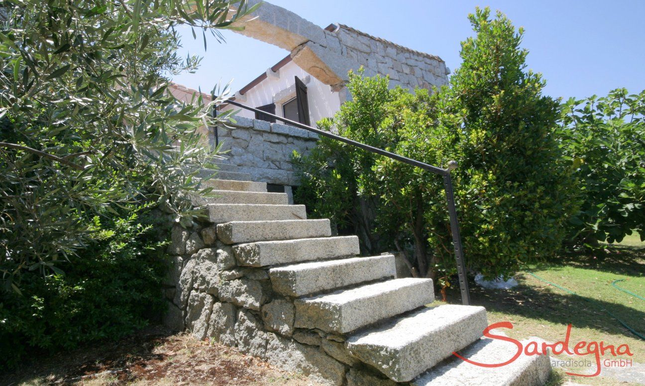 Garden stairs from Casa 20, Sant Elmo