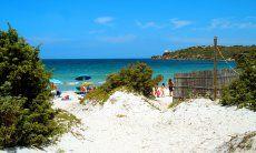 Beach Le Saline in Calasetta
