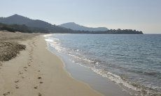 Morning on the beach of Geremeas