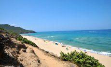 Beach of Portixeddu on the west coast of Sardinia