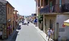 Via del Mare Villasiumus, just about 1 mile from Villa Liliana