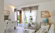 Living room with door to the pool  Villa Campidano 21