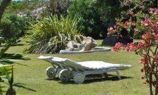 Relaxing in the big garden