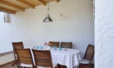 Roofed dining area outside