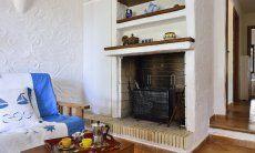 Chimney at the sofa corner