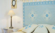 Double bed with night table, lamp and bed-head all in sardinien stile Li Conchi 7