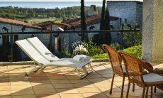 Terrace with sunbedsa and sea view Li Conchi 10, Cala Sinzias