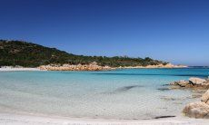Transparent, clean water in the bay of Cala del Principe