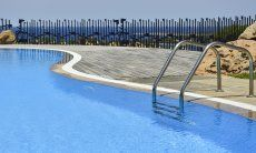 Pool for the guests of Domus di Pitrizza, opened from mid-May to mid-October