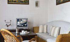 Cozy sofa corner with TV