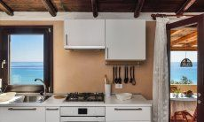 Fully equipped kitchen with sea view