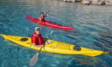 Kayakers love the gulf of Orosei