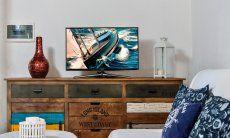 Sofa corner with TV