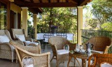 Terrace with lounge furniture
