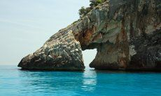 Arch of Cala Goloritze formed by nature