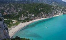 Airview of the beach Cala Luna