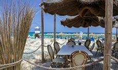 Bar and restaurant Tamatete on the beach of Cala Sinzias
