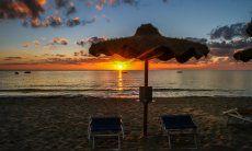 Sunrise at Cala Sinzias beach