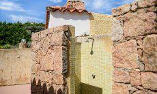 Outdoor shower of the villa