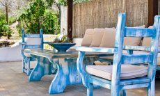 Typical sardinian garden furniture