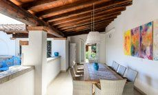 Roofed Terrace with big dining table  Villa Campidano 21