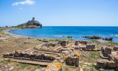 The archeological site of Nora is one of the most important ones in Sardinia