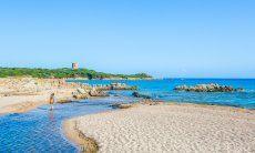 """Beach with river""""Rio Vignola"""" in Vignola Mare"""