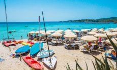 Lido with boat rental on the beach Le Bombarde Alghero