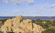 Cliffs on the coast fo Capo Comino