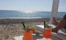 Aperitif on the beach of Cagliari
