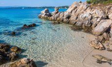 Clean and clear Seawater in Golfo Aranci