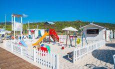 Playground on the beach in Golfo Aranci
