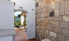 Private outside shower and terrace Su Faru 3 Pula