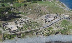 Archerological site Nora close to Pula in the south of Sardinia