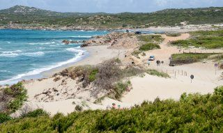 Beach and dunes on the northcoast of Sardinia