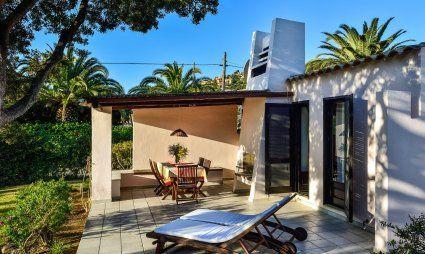 Terrace with sunbeds