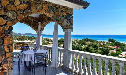 Terrace with a stunning sea view
