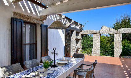 Diningtable on the shady terrace